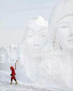 Harbin, China - Festival de escultura na neve