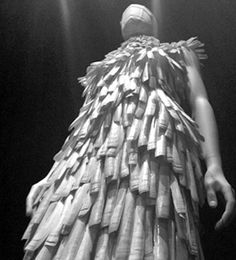 Dress by Alexander McQueen at The Met exhibit.  Know what it's made of??  Shells!  Read more about the show here: http://heatherdunhill.com/alexander-mcqueen-savage-beauty/