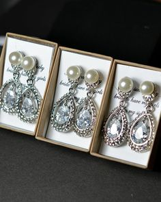 Bridal earrings art deco Vintage Inspired by thefabbridaljewelry, $49.80