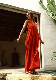 Flowing, sand-washed silk in a beautiful coral hue.