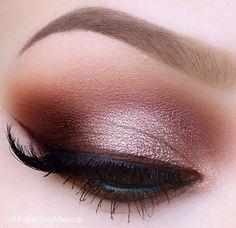 Rose gold | terracotta eye shadows.                                                                                                                                                                                 More