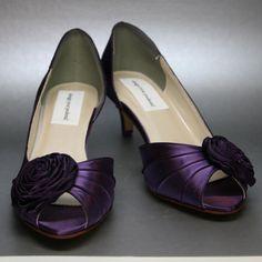 Purple Wedding Shoes  Purple Kitten Heels by DesignYourPedestal