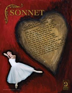 """Literary classroom poster explaining the poetry term sonnet using Elizabeth Barrett Browning's """"How Do I Love Thee. Poetry Books For Kids, Poetry Unit, Poetry Activities, English Activities, Elizabeth Barrett Browning, Forms Of Poetry, Reading Posters, National Poetry Month, Literary Quotes"""