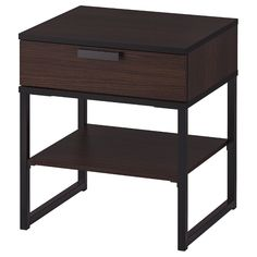 IKEA - TRYSIL, Nightstand, dark brown, black, Coordinates with other furniture in the TRYSIL series. Black Bedroom Furniture, Ikea Bedroom, Table Furniture, Furniture Layout, Office Furniture, Bamboo Furniture, Furniture Sets, Furniture Logo, Luxury Furniture