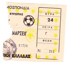1989 - 90 AEK - MARSEILLE 1-1 SAVEVSKI ΚΥΠΕΛΟ ΠΡΩΤΑΘΛΗΤΡΙΩΝ -Β ΓΥΡΟΣ