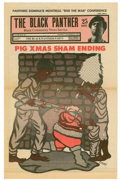 The Black Panther newspaper  Cover design and illustration: Emory Douglas