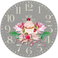 View album on Yandex. Decoupage Vintage, Decoupage Paper, Clock Face Printable, Paper Clock, Clock Flower, Fancy Watches, Antique Plates, Diy Clock, Scroll Saw Patterns