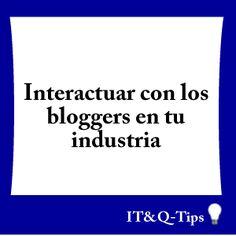 las mejores personas con blogs mas relevantes son los mas propensos a crear links a tu website y compartir tu contenido. #Tip #blog #blogger #entrepreneur #seo #organic #growth #website.