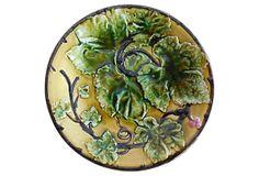 Majolica Green Leaves  Wall Plate on OneKingsLane.com