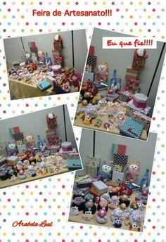 Minha produção: Caixas, bonecos, pesos de porta, etc e tal...