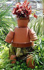 Little flower pot man - he'd look great sitting on a tree stump!