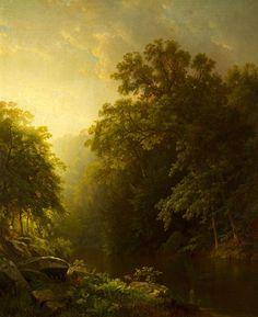 William Trost Richards - On The Wissahickon - Indian Summer