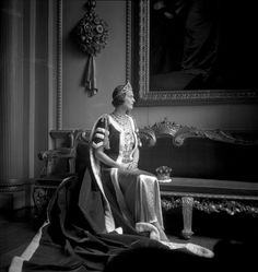 Later, in 1937, Beatrice, Countess of Pembroke, wearing a substantial tiara to the Coronation of King George VI