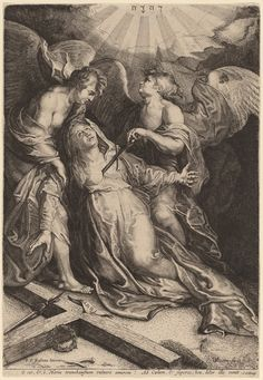 Willem van der Leeuw after Sir Peter Paul Rubens, 'Mater Dolorosa Kneeling, Supported by Two Angels,' , National Gallery of Art, Washington, D.C.