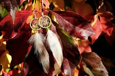 Natural Green Dream Catcher Earrings by nZuriArtDesigns on Etsy