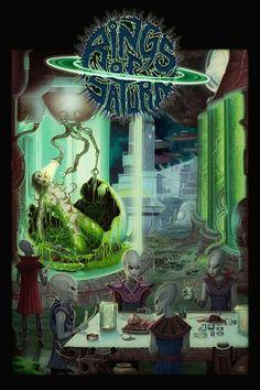 Rings of Saturn is gettin brutal with their new merch Art Pictures, Art Images, Rock N Roll, Secret Space Program, Rings Of Saturn, Band Wallpapers, Metal Albums, Metal Artwork, Metalhead