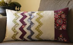 love it! chevron pillow tutorial.