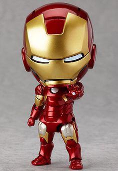 New Nendoroid 284 The Avengers Iron Man Mark Hero& Edition Good Smile Figur Iron Men, Iron Man Armor, Iron Man Suit, Anime Figures, Action Figures, Marvel Fabric, Superhero Fabric, Chibi Marvel, Baby Marvel
