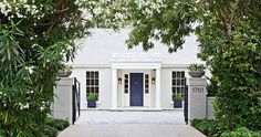 Gwyneth Paltrow's house via decorpad     While interior design is a primary focus at TPP, I also love being charmed by a home's exterior....