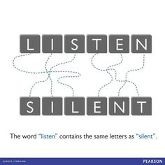 Did you know? The word LISTEN contains the same letters as SILENT. <3