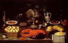 Clara Peeters - Stillleben mit Früchten, Hummer und Käse