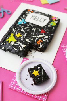 DIY Marble Notebook Cake | studiodiy.com