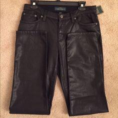 Ralph Lauren Black Coated Jeans New, black Lauren by Ralph Lauren coated jeans. A must have!! ✨No trades✨ Ralph Lauren Jeans