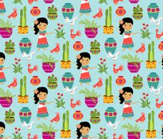 Wee Are the World: Chiquita fabric by sheri_mcculley on Spoonflower - custom fabric