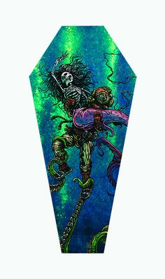 Catch or Release Coffin Stretched Canvas