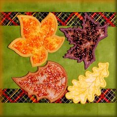 Falling Leaves Embroidery Machine Designs - DigiDoodlez Embroidery