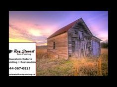 My family has been in the barn painting business for as long as I can remember. I, myself am a second generation barn painter. My son is the third generation. Painting Services, Farm Barn, Old Buildings, Vintage Photography, Ontario, Sunrise, Cabin, Landscape, Country