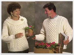 Crochet sweater pattern hooded cardigan misses size sm med lg crochet aran sweater patterns 2 styles bust chest 30 inches to 44 inches pdf 09571714 fandeluxe Gallery