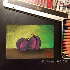 Plum soft pastel study