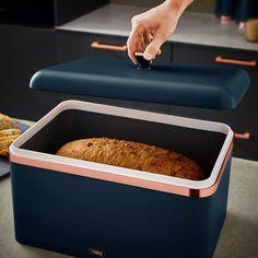 Buy Tower Cavaletto Carbon Steel Bread Bin   Bread bins   Argos Black Toaster, Bread Bin, Griddles, Argos, Griddle Pan, Tower, Steel, Rook, Computer Case