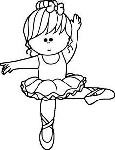 Cartoon Ballerina Coloring Page