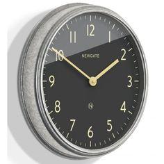 Newgate Clocks The Spy Wall Clock - Galvanised