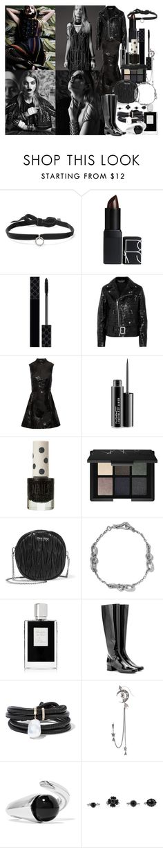 """Can You Save my HeavyDirtySoul?"" by brownish ❤ liked on Polyvore featuring DANNIJO, NARS Cosmetics, Gucci, Junya Watanabe, Markus Lupfer, MAC Cosmetics, Topshop, Miu Miu, Bottega Veneta and Kilian"