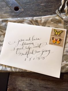 Wedding envelope calligraphy | designsgirl