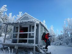 Cabot Mtn Winter Backpacking Trip, 1/24-25/15