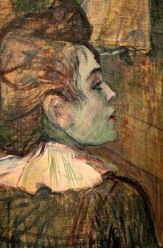 Henri De Toulouse-Lautrec | detail from Moulin de la Galette, Henri de Toulouse-Lautrec ...