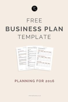 Get organised in 2016! Download this FREE Business Plan template (perfect for small businesses, entrepreneurs and biz bloggers!) #startup #followback #onlinebusiness