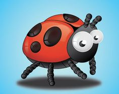 Create Lady Birds Insect Tutorial Using Adobe Illustrator ⬛️Lady Bugs / Lady BirdsMore At FOSTERGINGER @ Pinterest