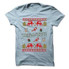 Christmas BROWN T Shirts, Hoodies. Check Price ==► https://www.sunfrog.com/LifeStyle/Christmas-BROWN-999-Cool-Name-Shirt--70967279-Guys.html?41382