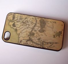 LOTR inspired Middle Earth map iPhone 4 / 4S case by GelertDesign, £8.00