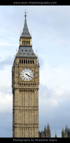 Big Ben, Clock Tower at the Houses of Parliament, London