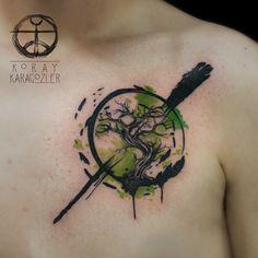 Tree of Life #watercolor #abstract #tree #tattoo #watercolortattoo #abstracttattoo #treetattoo #brush #tattrx #koraykaragözler #koraykaragozler #koray_karagozler #istanbul #turkey#green#nature#tree#bonsai#earth #zencircle