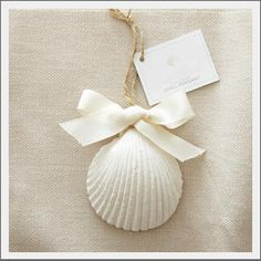 Shell Air Freshener. If you can't hang at the beach, let the beach hang with you. Ceramic scallop sea shell is enfused with a fresh citrus scent. Keep your car, bath, boat or small space smelling fresh for up to 60 days.