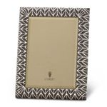Chevron Platinum Grey Enamel 5x7 Frame by L'Objet