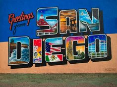 Greetings From San Diego Mural located at 30th and El Cajon Blvd