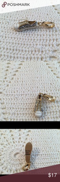 Juicy Couture Sneaker Charm Like New Black, White and Gold Firm Price Juicy Couture Jewelry